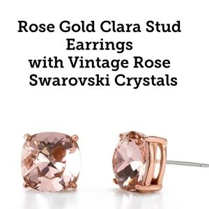 RG Swarovski Crystals/RG Stud Earrings